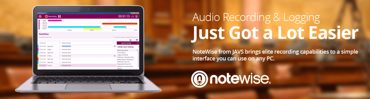 notewise audio recording and logging